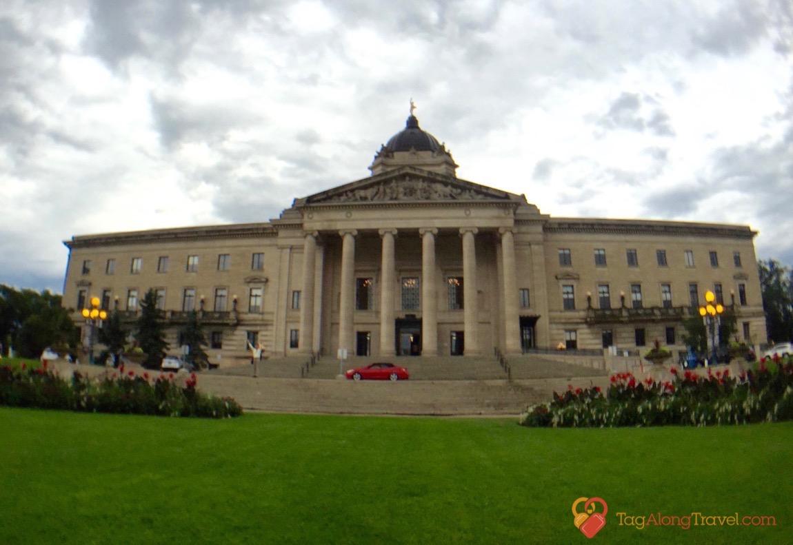 Reveiw of Hermetic Code Tour - Front view of Legislative Building